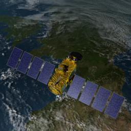 Artist's concept of U.S.-European Jason-3 Ocean Altimetry Satellite over France.