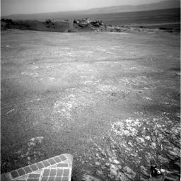 NASA's Mars Exploration Rover Opportunity arrived at the rim of Endeavour crater on Aug. 9, 2011, after a trek of more than 13 miles (21 kilometers) lasting nearly three years since departing the rover's previous major destination, Victoria crater.