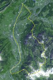 This image acquired by NASA's Terra spacecraft is of the Principality of Liechtenstein, a landlocked alpine country between Austria and Switzerland.