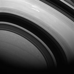 The shadows of Saturn's rings edge ever farther southward as Saturn creeps towards southern winter (or northern summer). Saturn is now almost exactly halfway between its equinox (August 2009) and southern winter solstice (in May 2017).