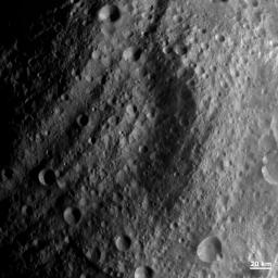 NASA's Dawn spacecraft obtained this image with its framing camera on Aug. 20, 2011. This image was taken through the camera's clear filter. The image has a resolution of about 260 meters per pixel.