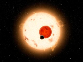 NASA's Kepler mission has discovered a world where two suns set over the horizon instead of just one. The planet, called Kepler-16b, is the most 'Tatooine-like' planet yet found in our galaxy and is depicted here in this artist's concept.