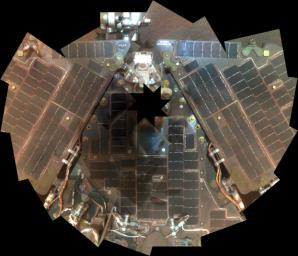 In 2007, NASA's Mars Exploration Rover Opportunity had endured a Martian dust storm and the rover team wanted to assess the dustiness of the solar panels.