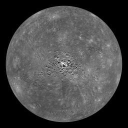Mercury Globe: South Pole