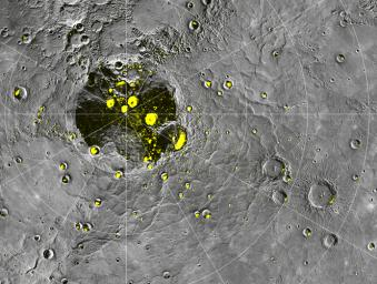 Radar-bright Deposits near Mercury's North Pole