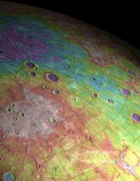 Perspective View of Mercury's Topography