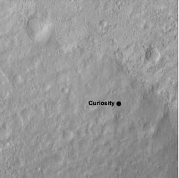 This image shows the quadrangle where NASA's Curiosity rover landed, within the expansive Gale Crater. The mission's science team has divided the landing region into several square quadrangles, or quads, of interest about 1-mile (1.3-kilometers) wide.
