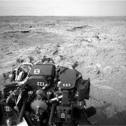 NASA's Mars rover Curiosity drove 83 feet eastward during the 102nd Martian day, or sol, of the mission (Nov. 18, 2012). At the end of the drive, Curiosity's view was toward 'Yellowknife Bay' in the 'Glenelg' area of Gale Crater.