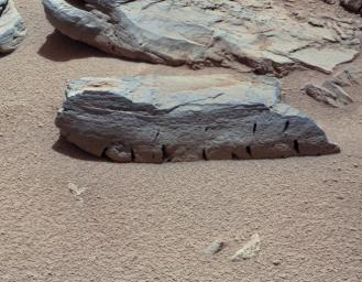 This view of a Martian rock called