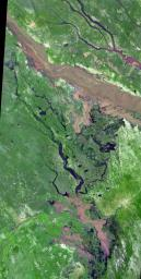 NASA's Terra spacecraft flew over South Africa and Zimbabwe where week-long torrential rains swelled the Limpopo River in Jan. 2013.