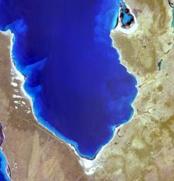 Acquired by NASA's Terra spacecraft, this image shows Hamelin Pool Marine Nature Reserve, located in the Shark Bay World Heritage Site in Western Australia.