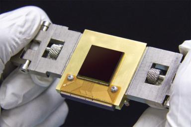 The NEOCam chip is the first megapixel sensor capable of detecting infrared wavelengths at temperatures achievable in deep space without refrigerators or cryogens.