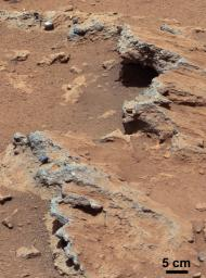NASA's Curiosity rover found evidence for an ancient, flowing stream on Mars at a few sites, including a rock which the science team has named 'Hottah' after Hottah Lake in Canada's Northwest Territories.