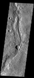 This image shows a portion of Samara Valles as seen by NASA's 2001 Mars Odyssey spacecraft.