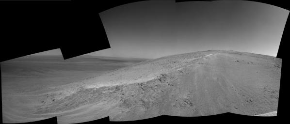 This image from NASA's Mars Exploration Rover, Opportunity, shows the lower reaches of 'Murray Ridge,' informally named to honor the late Bruce Murray, who led NASA's Jet Propulsion Laboratory through a period of great challenge and achievement.