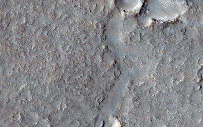 This area seen by NASA's Mars Reconnaissance Orbiter is known as the Deuteronilus contact of the Isidis Basin; it has been interpreted as a possible ancient shoreline. There are also suggestions that this contact is of volcanic origin.