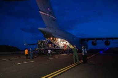 Engineers unload ground support equipment for a June engineering test flight above Kauai, Hawaii. The test flight is part of NASA's LDSD project, which is investigating cutting-edge landing technologies that could fly on future Mars missions.