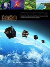 This poster highlights the JPL cubesat missions. NASA's CubeSat Programs provide opportunities for small satellite systems to fly as auxiliary payloads on planned missions.