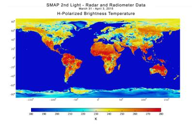 With its antenna now spinning at full speed, NASA's new Soil Moisture Active Passive (SMAP) observatory has successfully re-tested its science instruments and generated its first global maps, a key step to beginning routine science operations in May, 2015