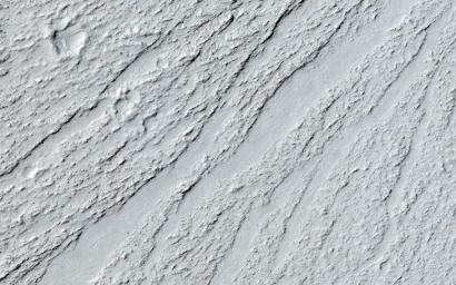 Ancient lava flow in Cerberus Planitia is observed here by NASA's Mars Reconnaissance Orbiter.