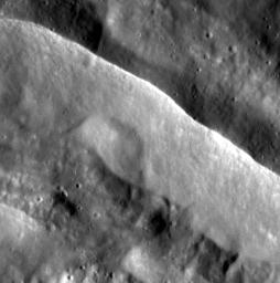 Watchers of the Wall. This image from NASA's MESSENGER spacecraft features the sharp rim of an unnamed complex crater on Mercury.