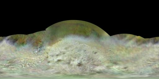 NASA's Voyager 2 spacecraft flew by Triton, a moon of Neptune, in the summer of 1989. Dr. Paul Schenk, a scientist at the Lunar and Planetary Institute in Houston, used Voyager data to construct the best-ever global color map of Triton.