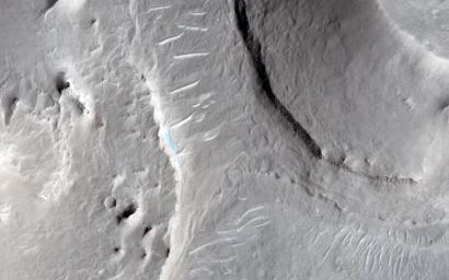 This image captured by NASA's Mars Reconnaissance Orbiter is of an area called Aram Dorsum (also known by its old name, Oxia Palus) that has been suggested for the 2018/2020 ExoMars Rover because it contains an ancient, exhumed alluvial system.