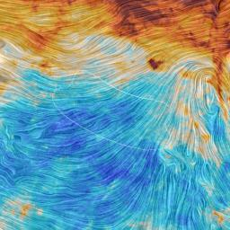 The color scale in this image from the Planck mission represents the emission from dust, a minor but crucial component that pervades our Milky Way galaxy. The texture indicates the orientation of the galactic magnetic field.