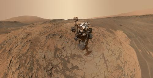 This self-portrait of NASA's Curiosity Mars rover shows the vehicle at the 'Mojave' site, where its drill collected the mission's second taste of Mount Sharp.