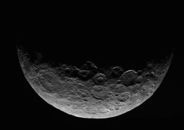 This image of Ceres is part of a sequence taken by NASA's Dawn spacecraft April 24 to 26, 2015, from a distance of 8,500 miles (13,500 kilometers).