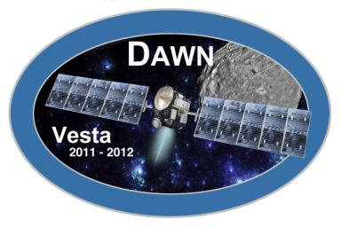 Dawn mission Vesta Logo, part of NASA's Dawn Mission Art series.