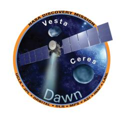 NASA's Dawn mission patch, part of the Dawn Mission Art series.