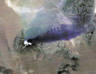 The April 18, 2015 eruption of Calbuco Volcano in Chile, as seen by NASA's Terra spacecraft, led to the evacuation of thousands of citizens near the summit, blanketed nearby towns with a layer of ash, and disrupted air traffic.