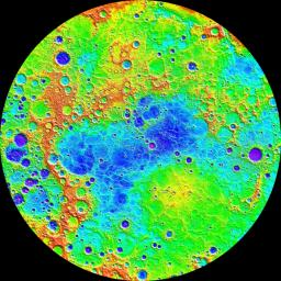 Measurements from NASA's MESSENGER's MLA instrument during the spacecraft's greater than four-year orbital mission have mapped the topography of Mercury's northern hemisphere in great detail.