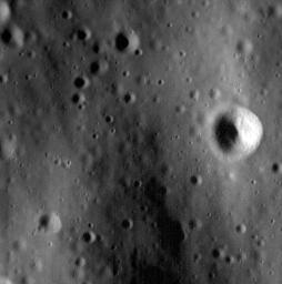 At approximately 1.1 meters/pixel, this image is among the highest-resolution views MESSENGER has ever taken of the surface of Mercury.
