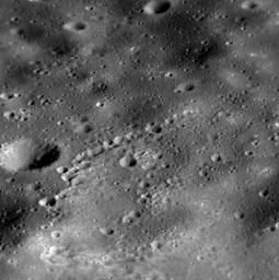 Though NASA's MESSENGER's days are numbered, the spacecraft will continue to acquire new data sets and transmit them back to Earth during its final days. Shown here is a high-resolution view snapped near Heemskerck Rupes.