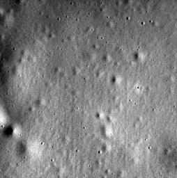 This image from NASA's MESSENGER spacecraft is the last one acquired and transmitted back to Earth by the mission. The image is located within the floor of the 93-kilometer-diameter crater Jokai.