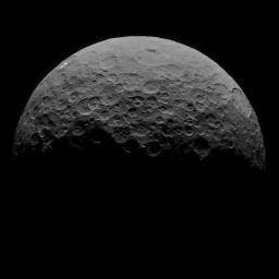 This image of Ceres is part of a sequence taken by NASA's Dawn spacecraft on April 29, 2015, from a distance of 8,400 miles (13,600 kilometers).