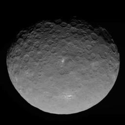 This image of Ceres is part of a sequence taken by NASA's Dawn spacecraft on May 4, 2015, from a distance of 8,400 miles (13,600 kilometers).