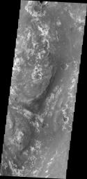 This image captured by NASA's 2001 Mars Odyssey spacecraft shows part of Mawrth Valles, a channel carved by giant floods billions of years ago.