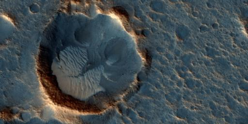 This image from NASA's Mars Reconnaissance Orbiter shows a location on Mars associated with the best-selling novel and Hollywood movie, 'The Martian.' This area is in the Acidalia Planitia region.