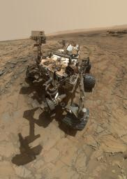 This self-portrait of NASA's Curiosity Mars rover shows the vehicle at the 'Big Sky' site, where its drill collected the mission's fifth taste of Mount Sharp.