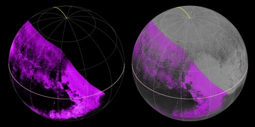 NASA's New Horizons spacecraft mapped compositions across Pluto's surface as it flew past the planet on July 14, 2015.