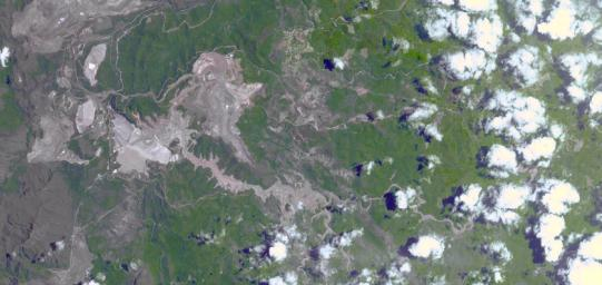 On Nov. 5, 2015, a dam at an iron-ore mine in southeastern Brazil burst, sending a wall of water, clay-red mud and debris downstream, overwhelming several villages in the path as seen by NASA's Terra spacecraft.