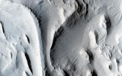 The sinuous ridges in this image from NASA's Mars Reconnaissance Orbiter spacecraft display strong characteristics of ancient meandering riverbeds that are preserved as inverted topography.