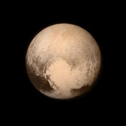 Pluto nearly fills the frame in this image from NASA's New Horizons, taken on July 13, 2015. This is the last and most detailed image sent to Earth before the spacecraft's closest approach to Pluto on July 14.