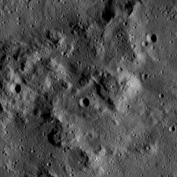 This image, taken by NASA's Dawn spacecraft, shows a knobby surface on Ceres. The region is adjacent to the giant impact crater Urvara.