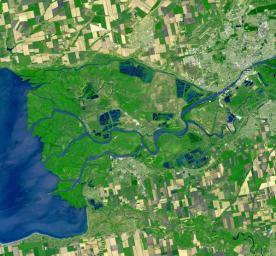 This image from NASA's Terra spacecraft shows Rostov-on-Don, a Russian City on the Don River, 32 kilometers from the Sea of Azov.