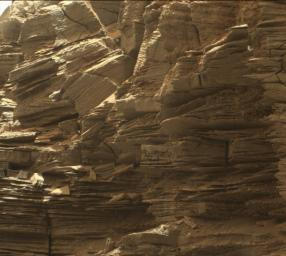 This view from the Mast Camera (Mastcam) in NASA's Curiosity Mars rover shows finely layered rocks within the 'Murray Buttes' region on lower Mount Sharp.