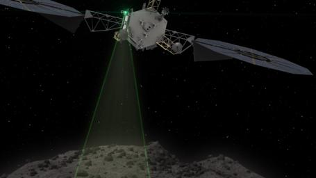 This graphic depicts the Asteroid Redirect Vehicle conducting a flyby of its target asteroid. The robotic segment of the Asteroid Redirect Mission will demonstrate advanced, high-power, high-throughput solar electric propulsion.